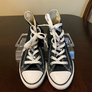 Converse all stars black high tops youth size 3